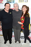 LOS ANGELES - JAN 10:  Burt Ward, Lee Meriwether, Tracy Posner at the Batman '66 Retrospective and Batman Exhibit Opening Night at the Hollywood Museum on January 10, 2018 in Los Angeles, CA<br /> <br /> Batman '66 Retrospective and Batman Exhibit Opening Night, The World Famous Hollywood Museum, Hollywood, CA 01-10-18