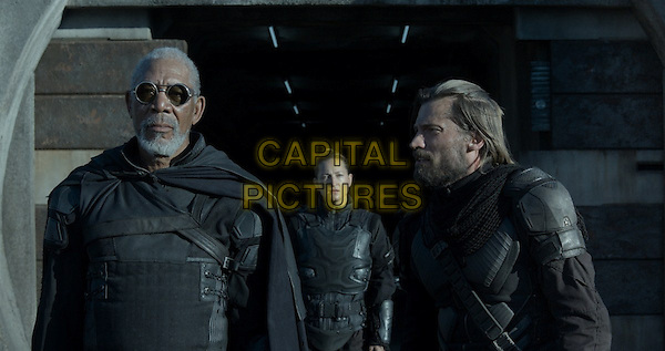 Morgan Freeman, Nikolaj Coster-Waldau<br /> in Oblivion (2013) <br /> *Filmstill - Editorial Use Only*<br /> CAP/NFS<br /> Image supplied by Capital Pictures