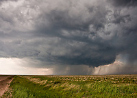 Supercell thunderstorm above a wheat field in Campo, CO, May 31, 2010
