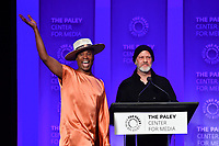 "HOLLYWOOD, CA - MARCH 23: Billy Porter and Ryan Murphy at PaleyFest 2019 for FX's ""Pose"" panel at the Dolby Theatre on March 23, 2019 in Hollywood, California. (Photo by Vince Bucci/FX/PictureGroup)"