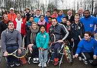 09-02-14, Netherlands,Rotterdam,Ahoy, ABNAMROWTT, Opening Playground with Esther Vergeer<br /> Photo:Tennisimages/Henk Koster