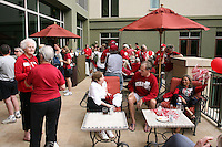 SAN ANTONIO, TX - APRIL 4:  Guests gather at a rally before Stanford's 73-66 win over Oklahoma in the Final Four semi-finals at the Alamo Dome on April 4, 2010 in San Antonio, Texas.