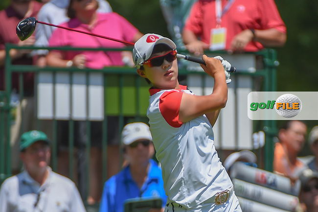 Hyo Joo Kim (KOR) watches her tee shot on 1 during round 3 of the U.S. Women's Open Championship, Shoal Creek Country Club, at Birmingham, Alabama, USA. 6/2/2018.<br /> Picture: Golffile   Ken Murray<br /> <br /> All photo usage must carry mandatory copyright credit (© Golffile   Ken Murray)