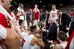 Wisconsin Badgers Head Coach Bo Ryan talks to his team during a time out during a Big Ten Conference NCAA college basketball game against the Illinois Fighting Illini on Sunday, March 4, 2012 in Madison, Wisconsin. The Badgers won 70-56. (Photo by David Stluka)