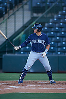 AZL Padres 1 Brandon Valenzuela (7) at bat during an Arizona League game against the AZL Angels on July 16, 2019 at Tempe Diablo Stadium in Tempe, Arizona. The AZL Padres 1 defeated the AZL Angels 3-1. (Zachary Lucy/Four Seam Images)