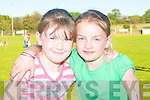 BEST FRIENDS: Best friends Ailish O'Sullivan and Aisling O'Connell enjoying the Ballymac GAA Family Fun Day on Sunday.