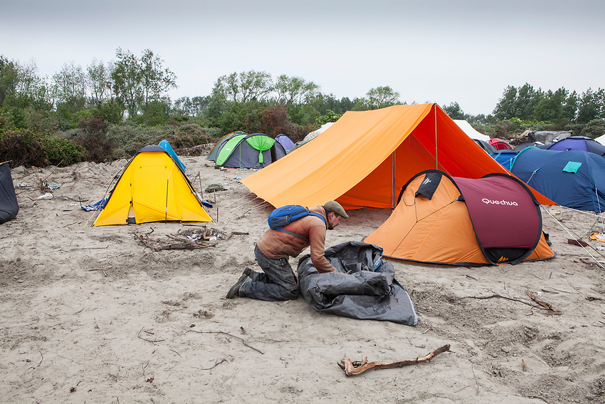 Tents put up by Help Refugees UK after a fire burned down the shelters of many refugees living in Calais. Help Refugees has grown out of #helpcalais, a social media campaign started by Lliana Bird (Radio X DJ), Dawn O'Porter (Writer and Presenter), Josie Naughton and Heydon Prowse (The Revolution will be Televised) to raise a few funds and collect goods to take to Calais to help in some small way. The public response to the campaign was huge, and we were quickly able to provide aid in Calais and far beyond.