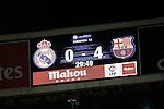 Scoreboard during 2015-16 La Liga match between Real Madrid and Barcelona at Santiago Bernabeu stadium in Madrid, Spain. November 21, 2015. (ALTERPHOTOS/Victor Blanco)