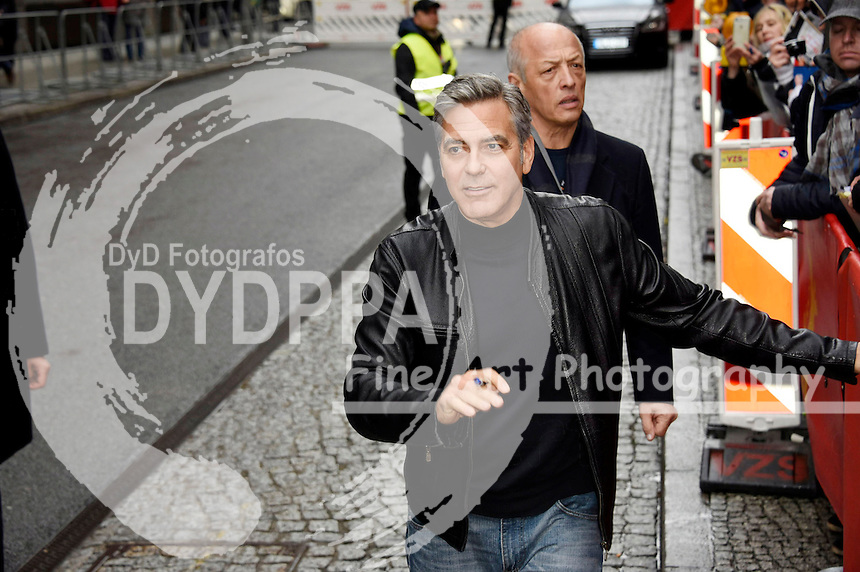 George Clooney arrives for the 'Hail, Caesar!' press conference at the 66th Berlin International Film Festival / Berlinale 2016 on February 11, 2016 in Berlin, Germany.