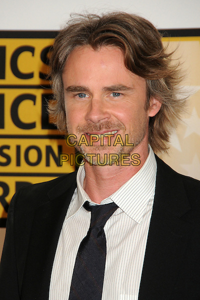 Sam Trammell.1st Annual Critics' Choice Television Awards held at The Beverly Hills Hotel, Beverly Hills, California, USA, .20th June 2011..portrait headshot smiling white suit tie  beard facial hair black .CAP/ADM/BP.©Byron Purvis/AdMedia/Capital Pictures.