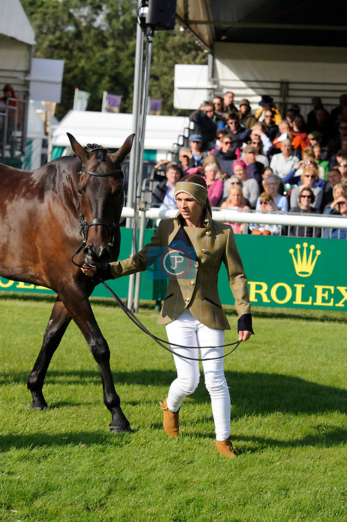 Stamford, Lincolnshire, United Kingdom, 4th September 2019, Nicky Hill (GB) & MGH Bingo Boy during the 1st Horse Inspection of the 2019 Land Rover Burghley Horse Trials, Credit: Jonathan Clarke/JPC Images