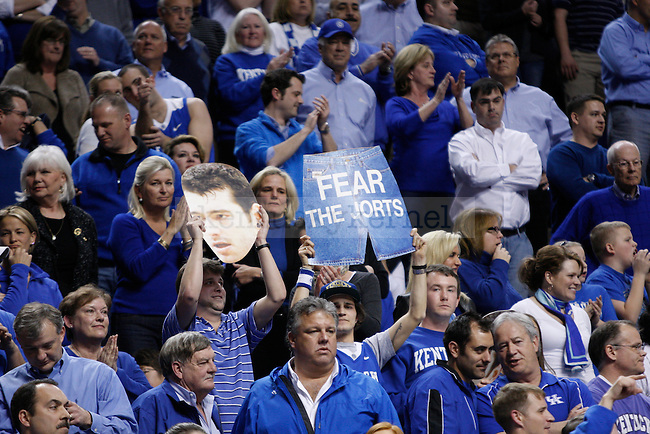 UK fans hold up signs in honor of Josh Herrellson during senior night against Vanderbilt at Rupp Arena on Tuesday, March 1, 2011. Photo by Scott Hannigan | Staff
