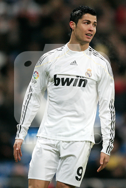 Real Madrid's Cristiano Ronaldo dejected during La Liga match, December 19, 2009. (ALTERPHOTOS/Alvaro Hernandez).