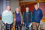 Joe Wallace Ardfert, William goggn St Michaels Foilmore, Patrick Brosnan St Kerry board and Michael Carey Kenmare at the Kerry County board convention in the Gleaneagle Hotel on Monday night