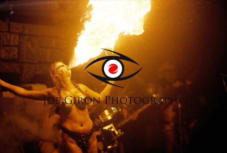Various portraits & live photographs of the rock band,  GWAR.