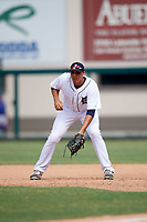 Detroit Tigers Reynaldo Rivera (35) during an Instructional League game against the Toronto Blue Jays on October 12, 2017 at Joker Marchant Stadium in Lakeland, Florida.  (Mike Janes/Four Seam Images)