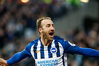 1st February 2020; London Stadium, London, England; English Premier League Football, West Ham United versus Brighton and Hove Albion; Glenn Murray  of Brighton and Hove Albion celebrates scoring in the 80th minute to level the game at 3-3