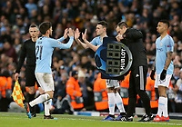 Manchester City's David Silva is replaced by Phil Foden<br /> <br /> Photographer Rich Linley/CameraSport<br /> <br /> UEFA Champions League Round of 16 Second Leg - Manchester City v FC Schalke 04 - Tuesday 12th March 2019 - The Etihad - Manchester<br />  <br /> World Copyright &copy; 2018 CameraSport. All rights reserved. 43 Linden Ave. Countesthorpe. Leicester. England. LE8 5PG - Tel: +44 (0) 116 277 4147 - admin@camerasport.com - www.camerasport.com