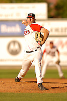 August 16 2008:  Kyle Weiland of the Lowell Spinners at LeLacheur Park in Lowell, MA.  Photo by:  Ken Babbitt/Four Seam Images