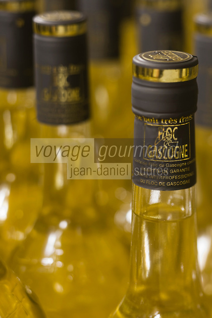 Europe/France/Aquitaine/40/Landes/ Hontanx: Bouteilles de Floc de Gascogne -Domaine de Laubesse - Armagnac Lacoste et Floc de Gascogne