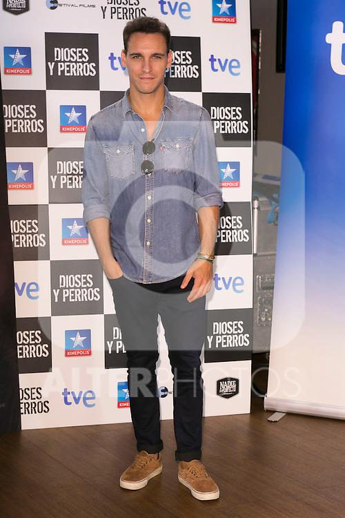 """Ricard Sales attends the """"DIOSES Y PERROS """" Movie presentation at Kinepolis Cinema in Madrid, Spain. October 6, 2014. (ALTERPHOTOS/Carlos Dafonte)"""