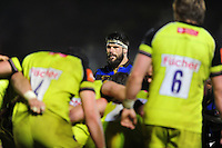 Guy Mercer of Bath Rugby looks on during a break in play. Anglo-Welsh Cup match, between Bath Rugby and Leicester Tigers on November 4, 2016 at the Recreation Ground in Bath, England. Photo by: Patrick Khachfe / Onside Images