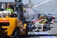 MELBOURNE, 11 March - An HRT F1 Team car is unloaded from the transporter  ahead of the 2012 Formula One Australian Grand Prix at the Albert Park Circuit in Melbourne, Australia. (Photo Sydney Low / syd-low.com)