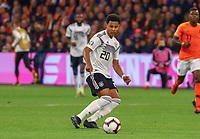 Serge Gnabry (Deutschland Germany)  - 24.03.2019: Niederlande vs. Deutschland, EM-Qualifikation, Amsterdam Arena, DISCLAIMER: DFB regulations prohibit any use of photographs as image sequences and/or quasi-video.