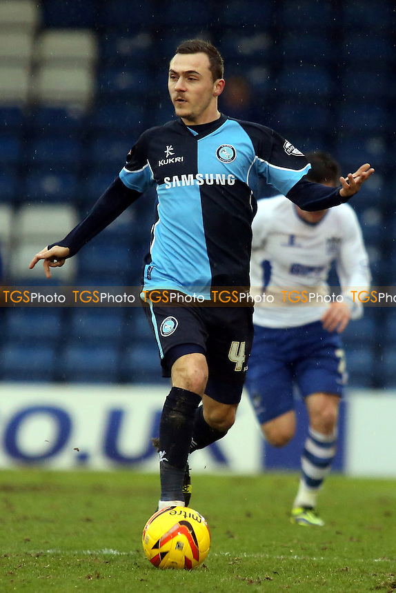 Josh Scowen of Wycombe Wanderers - Bury vs Wycombe Wanderers - Sky Bet League Two Football at Gigg Lane, Bury, Greater Manchester - 01/02/14 - MANDATORY CREDIT: Paul Dennis/TGSPHOTO - Self billing applies where appropriate - 0845 094 6026 - contact@tgsphoto.co.uk - NO UNPAID USE