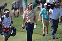 Gainesville, VA - August 1, 2015: Ryo Ishikawa of Japan walks towards his next shot on the 13th hole in round 3 of the Quicken Loans National at the Robert Trent Jones Golf Club in Gainesville, VA, August 1, 2015. Ishikawa finished the round even, placing him at -11 and tied for third.  (Photo by Don Baxter/Media Images International)