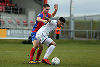 Josh Ginnelly of Tranmere Rovers and Daniel Sparkes of Dagenham  during Dagenham & Redbridge vs Tranmere Rovers, Vanarama National League Football at the Chigwell Construction Stadium on 10th March 2018