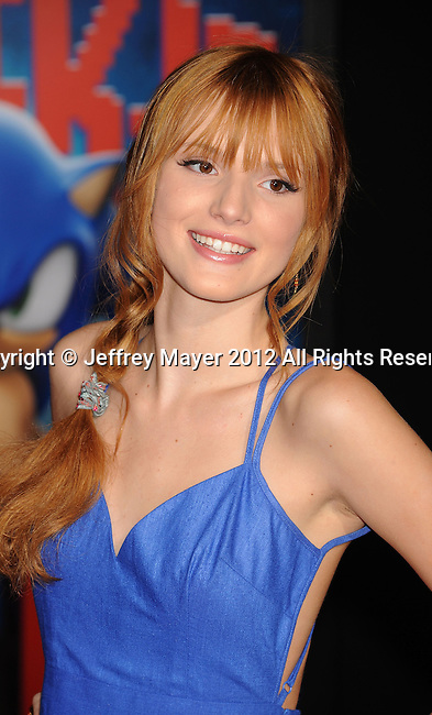 HOLLYWOOD, CA - OCTOBER 29: Bella Thorne arrives at the Los Angeles premiere of 'Wreck-It Ralph' at the El Capitan Theatre on October 29, 2012 in Hollywood, California.