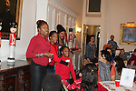 Founder HOG Deborah Koenigsberger with Actress and singer Rhonda Ross (Another World) and son Raif and designer Tracy Reese at Hearts of Gold links to a better life celebrates Christmas with a party #2 for mothers and their children on December 17, 2016 in New York City, New York with arts and crafts, a great turkey dinner with all the goodies and then the children met Santa Claus and had a photo with him as he gave them gifts. (Photo by Sue Coflin/Max Photos)