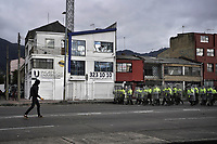 BOGOTA - COLOMBIA, 16-01-2020: Fuertes disturbios se presentaron en la universidad Nacional de Colombia en Bogotá durante la jornada de paro Nacional en Colombia hoy, 16 enero de 2020. La jornada Nacional es convocada para rechazar el mal gobierno y las decisiones que vulneran los derechos de los Colombianos. / Hard riots occurred at Universidad Nacional de Colombia of Bogota during the National Strike day in Colombia today, January 16, 2020. The National Strike is convened to reject bad government and decisions that violate the rights of Colombians. Photo: VizzorImage / Diego Cuevas / Cont