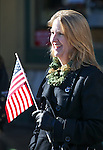 Emily Howarth watches the annual Veterans Day parade in Virginia City, Nev., on Wednesday, Nov. 11, 2015. <br /> Photo by Cathleen Allison
