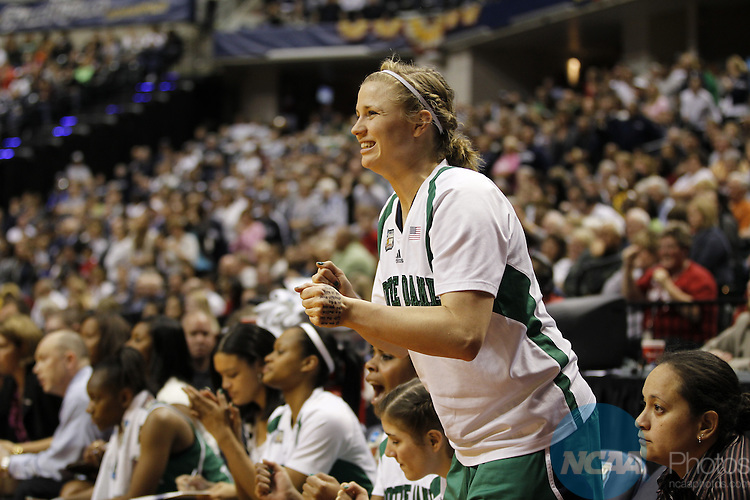 03 APR 2011:  Mary Forr (41) of the University of Notre Dame celebrates after a basket against the University of Connecticut during the Division I Women's Basketball Semifinals held at Conseco Fieldhouse in Indianapolis, IN.  Notre Dame defeated Connecticut 72-63 to advance to the national title game.  Jamie Schwaberow/NCAA Photos