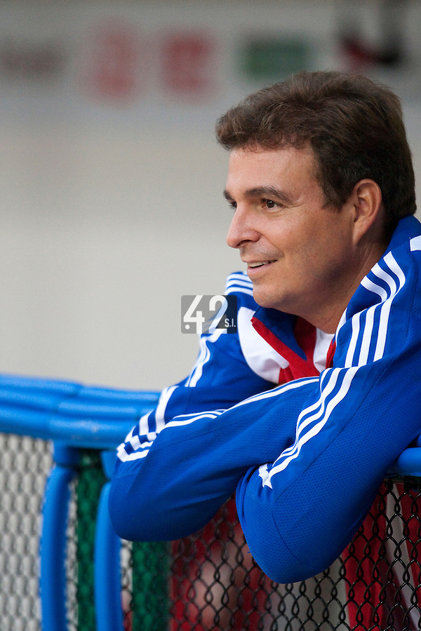 24 September 2009: Cuban team doctor Antonio Castro is seen prior to the 2009 Baseball World Cup final round match won 5-3 by Team USA over Cuba, in Nettuno, Italy.