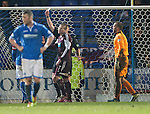 St Johnstone v Hearts.....18.01.14   SPFL<br /> Ryan Stevenson is sent off<br /> Picture by Graeme Hart.<br /> Copyright Perthshire Picture Agency<br /> Tel: 01738 623350  Mobile: 07990 594431