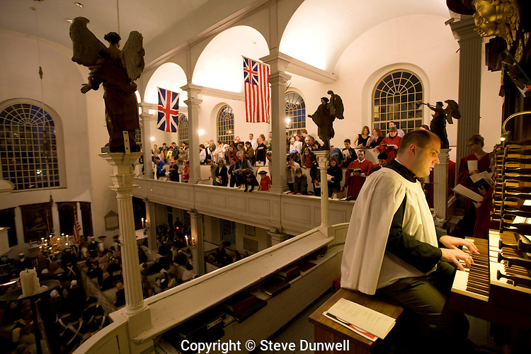 organist, Old North Church lantern service, Boston, MA