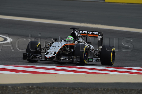 01.04.2016. Bahrain. FIA Formula One World Championship 2016, Grand Prix of Bahrain, Practise day.  Niko Huelkenberg, Sahara Force India F1