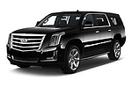 2020 Cadillac Escalade-ESV Premium-Luxury 5 Door SUV Angular Front automotive stock photos of front three quarter view