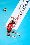 25.08.2018, …VB Arena, Bremen<br />Volleyball, LŠ&auml;nderspiel / Laenderspiel, Deutschland vs. Niederlande<br /><br />Aufschlag / Service Ivana Vanjak (#21 GER)<br /><br />  Foto &copy; nordphoto / Kurth