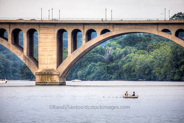 Georgetown Key Bridge Potomac River Washington DC