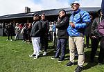 MC Kim of McKayson with tournament director Michael Goldstein. McKayson NZ Women's Golf Open, Round Five, Windross Farm Golf Course, Manukau, Auckland, New Zealand, Monday 2nd October 2017.  Photo: Simon Watts/www.bwmedia.co.nz