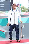 Kensuke Sasaoka (JPN), <br /> AUGUST 29, 2018 - Skateboarding : <br /> Men's Park Medal Ceremony <br /> at Jakabaring Sport Center Skatepark <br /> during the 2018 Jakarta Palembang Asian Games <br /> in Palembang, Indonesia. <br /> (Photo by Yohei Osada/AFLO SPORT)