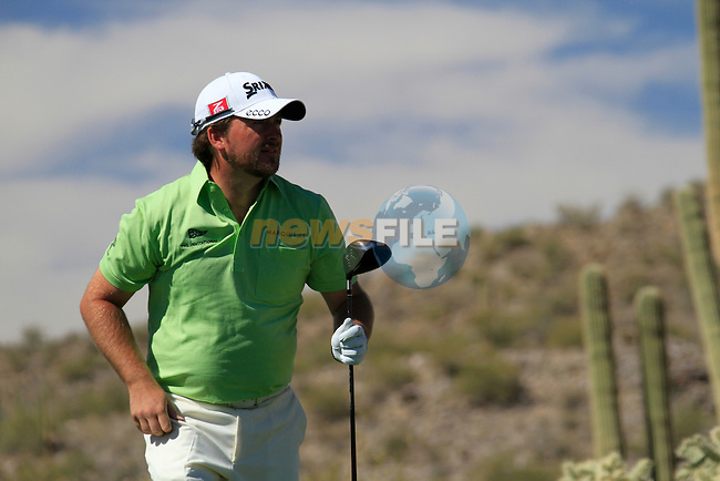 Graeme McDowell (N.IRL) in action on the 13th tee during Day 3 of the Accenture Match Play Championship from The Ritz-Carlton Golf Club, Dove Mountain, Friday 25th February 2011. (Photo Eoin Clarke/golffile.ie)