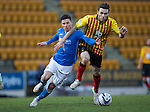 St Johnstone v Partick Thistle....17.01.15  SPFL<br /> Michael O'Halloran and Stephen O'Donnell<br /> Picture by Graeme Hart.<br /> Copyright Perthshire Picture Agency<br /> Tel: 01738 623350  Mobile: 07990 594431