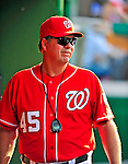 6 June 2009: Washington Nationals' new pitching coach Steve McCatty  awaits the start of play in the dugout prior to a game against the New York Mets at Nationals Park in Washington, DC. The Nationals defeated the Mets 7-1, marking pitcher John Lannan's first complete game of his career. Mandatory Credit: Ed Wolfstein Photo