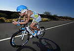 KAILUA-KONA, HI - OCTOBER 13:  Mirinda Carafrae of Australia on the bicycle portion of the race during the 2012 IRONMAN World Championships on October 13, 2012 in Kailua-Kona, Hawaii. (Photo by Donald Miralle)