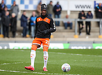Blackpool's Armand Gnanduillet warming up before the match <br /> <br /> Photographer Andrew Kearns/CameraSport<br /> <br /> The EFL Sky Bet League Two - Bristol Rovers v Blackpool - Saturday 2nd March 2019 - Memorial Stadium - Bristol<br /> <br /> World Copyright © 2019 CameraSport. All rights reserved. 43 Linden Ave. Countesthorpe. Leicester. England. LE8 5PG - Tel: +44 (0) 116 277 4147 - admin@camerasport.com - www.camerasport.com